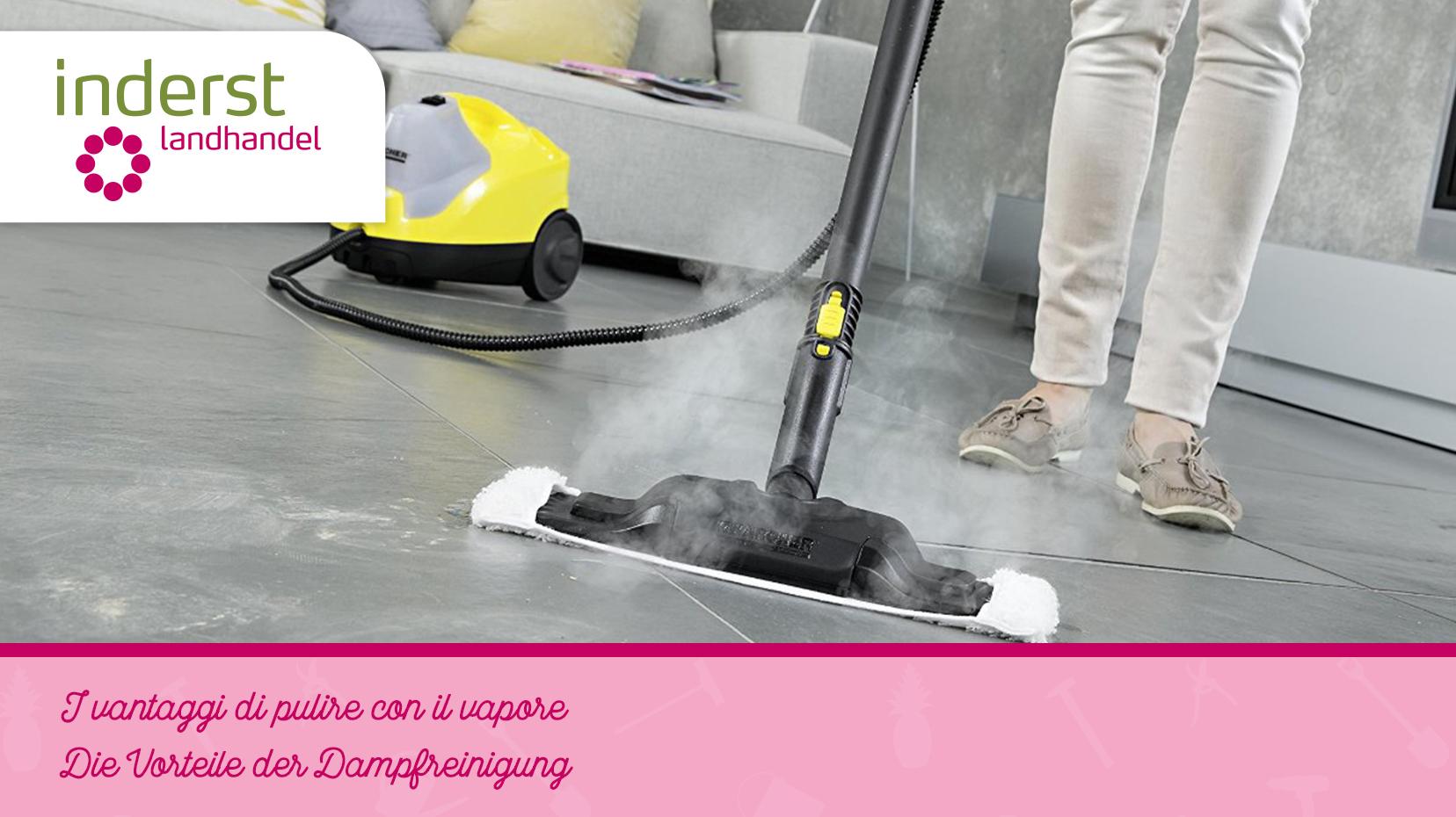 I vantaggi di pulire con il vapore inderst for Pulire con vapore