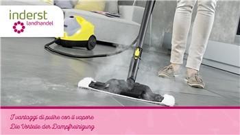 I vantaggi di pulire con il vapore