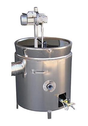 Pentolone 230lt a bagno d 39 olio con agitatore inderst for Bagno d olio