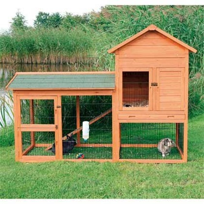 Natura gabbia per conigli con recinto 199x146x93cm inderst - Casetta per conigli ...