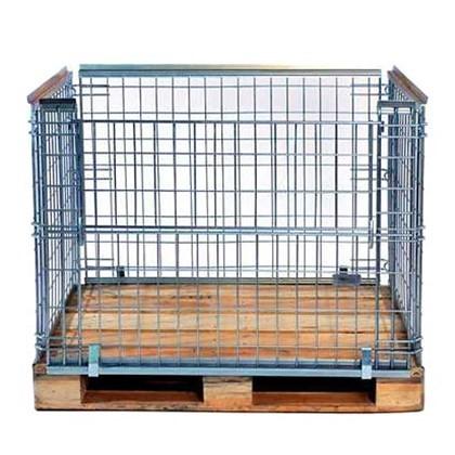 Gitterbox Palettenrahmen Euro Epal 122x82x90cm Inderst